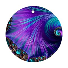 Abstract Fractal Fractal Structures Round Ornament (two Sides)