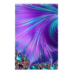 Abstract Fractal Fractal Structures Shower Curtain 48  X 72  (small)