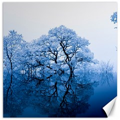 Nature Inspiration Trees Blue Canvas 12  X 12