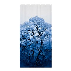 Nature Inspiration Trees Blue Shower Curtain 36  X 72  (stall)