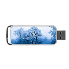 Nature Inspiration Trees Blue Portable Usb Flash (one Side) by Nexatart