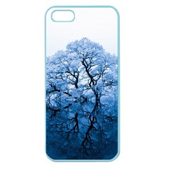 Nature Inspiration Trees Blue Apple Seamless Iphone 5 Case (color)