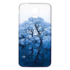 Nature Inspiration Trees Blue Samsung Galaxy S5 Back Case (white)