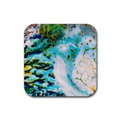 Abstract Art Modern Detail Macro Rubber Coaster (square)  by Nexatart