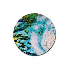 Abstract Art Modern Detail Macro Rubber Coaster (round)  by Nexatart