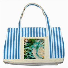 Abstract Art Modern Detail Macro Striped Blue Tote Bag