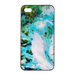 Abstract Art Modern Detail Macro Apple Iphone 4/4s Seamless Case (black) by Nexatart