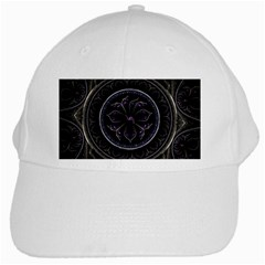 Fractal Abstract Purple Majesty White Cap
