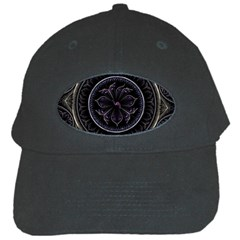 Fractal Abstract Purple Majesty Black Cap