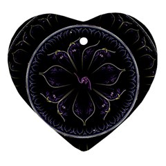 Fractal Abstract Purple Majesty Heart Ornament (two Sides)