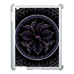 Fractal Abstract Purple Majesty Apple Ipad 3/4 Case (white) by Nexatart
