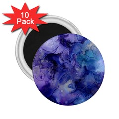 Ink Background Swirl Blue Purple 2 25  Magnets (10 Pack)  by Nexatart