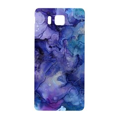 Ink Background Swirl Blue Purple Samsung Galaxy Alpha Hardshell Back Case by Nexatart