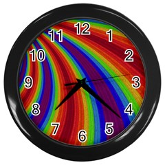 Abstract Pattern Lines Wave Wall Clocks (black) by Nexatart