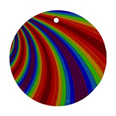 Abstract Pattern Lines Wave Round Ornament (two Sides)