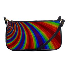 Abstract Pattern Lines Wave Shoulder Clutch Bags