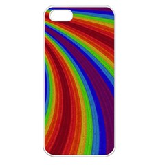 Abstract Pattern Lines Wave Apple Iphone 5 Seamless Case (white)