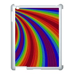 Abstract Pattern Lines Wave Apple Ipad 3/4 Case (white) by Nexatart