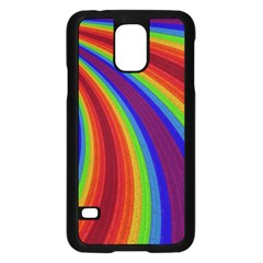Abstract Pattern Lines Wave Samsung Galaxy S5 Case (black)