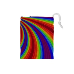 Abstract Pattern Lines Wave Drawstring Pouches (small)