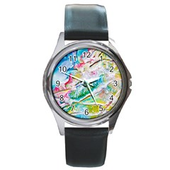 Art Abstract Abstract Art Round Metal Watch