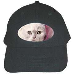 Cat Pet Cute Art Abstract Vintage Black Cap