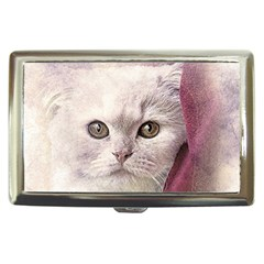 Cat Pet Cute Art Abstract Vintage Cigarette Money Cases by Nexatart