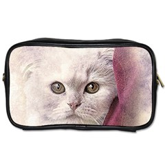 Cat Pet Cute Art Abstract Vintage Toiletries Bags 2 Side