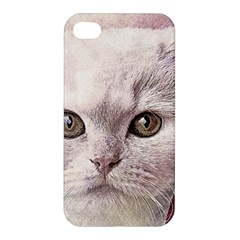 Cat Pet Cute Art Abstract Vintage Apple Iphone 4/4s Premium Hardshell Case