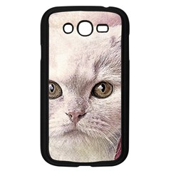 Cat Pet Cute Art Abstract Vintage Samsung Galaxy Grand Duos I9082 Case (black) by Nexatart