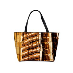 Abstract Architecture Background Shoulder Handbags