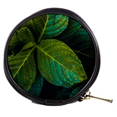 Green Plant Leaf Foliage Nature Mini Makeup Bags by Nexatart