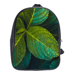 Green Plant Leaf Foliage Nature School Bag (large) by Nexatart