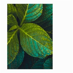 Green Plant Leaf Foliage Nature Small Garden Flag (two Sides) by Nexatart