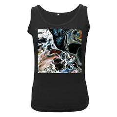 Abstract Flow River Black Women s Black Tank Top