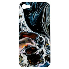 Abstract Flow River Black Apple Iphone 5 Hardshell Case