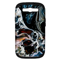 Abstract Flow River Black Samsung Galaxy S Iii Hardshell Case (pc+silicone)