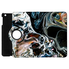 Abstract Flow River Black Apple Ipad Mini Flip 360 Case