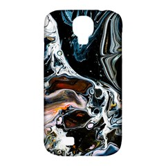 Abstract Flow River Black Samsung Galaxy S4 Classic Hardshell Case (pc+silicone)