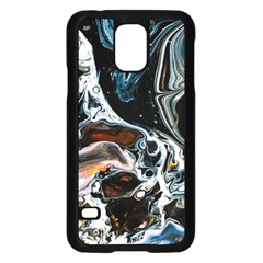 Abstract Flow River Black Samsung Galaxy S5 Case (black) by Nexatart