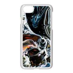 Abstract Flow River Black Apple Iphone 7 Seamless Case (white)