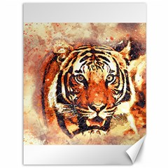 Tiger Portrait Art Abstract Canvas 36  X 48   by Nexatart