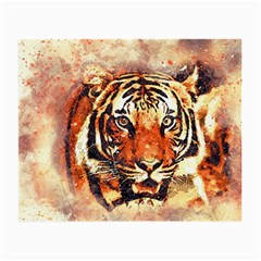 Tiger Portrait Art Abstract Small Glasses Cloth (2 Side)