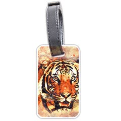 Tiger Portrait Art Abstract Luggage Tags (two Sides) by Nexatart