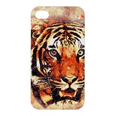 Tiger Portrait Art Abstract Apple Iphone 4/4s Premium Hardshell Case