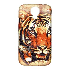 Tiger Portrait Art Abstract Samsung Galaxy S4 Classic Hardshell Case (pc+silicone)