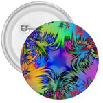 Star Abstract Colorful Fireworks 3  Buttons Front