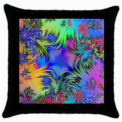 Star Abstract Colorful Fireworks Throw Pillow Case (black)