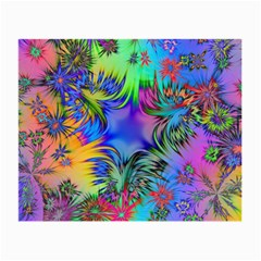 Star Abstract Colorful Fireworks Small Glasses Cloth