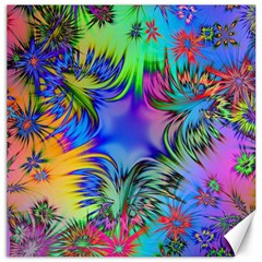 Star Abstract Colorful Fireworks Canvas 20  X 20   by Nexatart